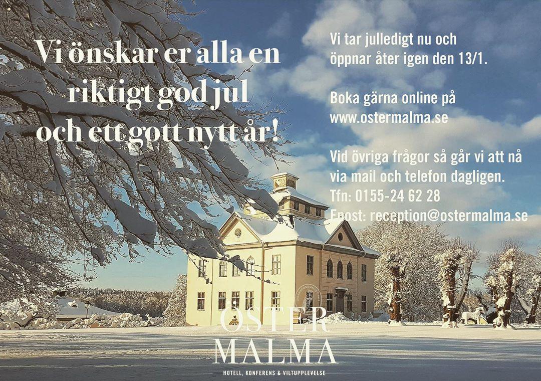 Har du inte handlat alla julklappar än?! Gå in på www.ostermalma.se och köp ett presentkort och få det direkt till din mail. 🎁