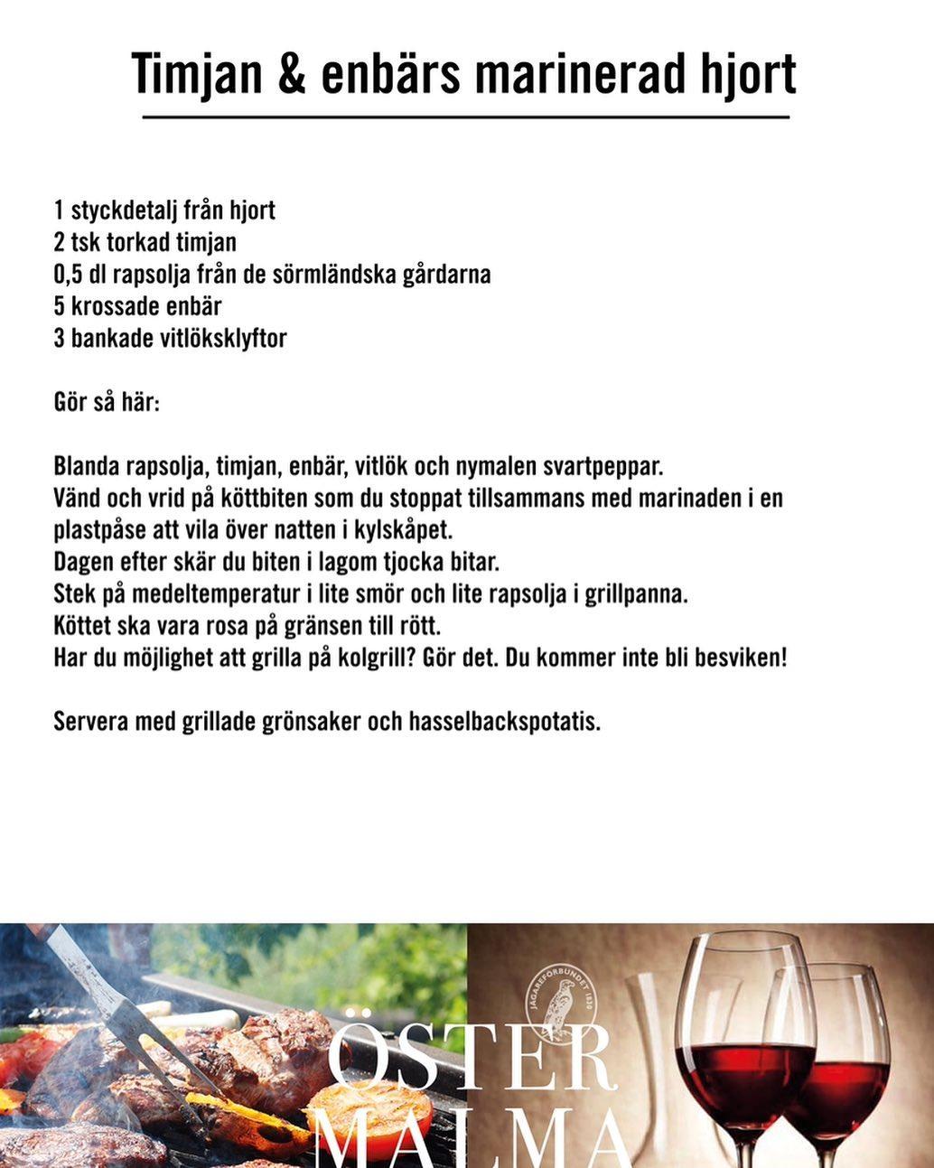 Tips till Valborg👩🏻🍳 Idag är sista dagen att boka din viltbox, gör det direkt på www.ostermalma.se #östermalma #jägareförbundet #frånskogtillbord #viltkött